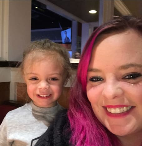 Catelynn Lowell with Nova
