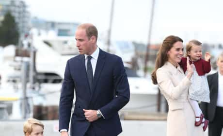 Will Kate George Charlotte Wave Goodbye Canada