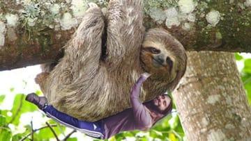 Jared Leto Hugs a Sloth