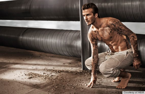 David Beckham Shirtless For H&M