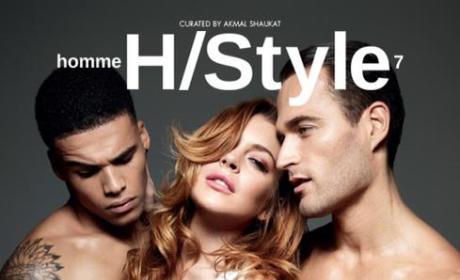 Lindsay Lohan Homme Magazine Cover