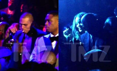 Chris Brown and Rihanna Smoking