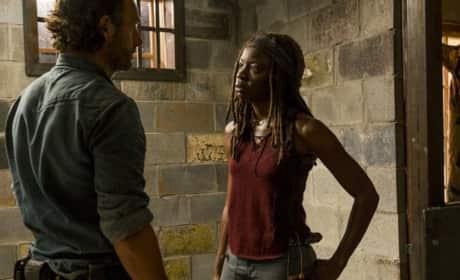 Michonne & Rick Meet Back Up on The Walking Dead