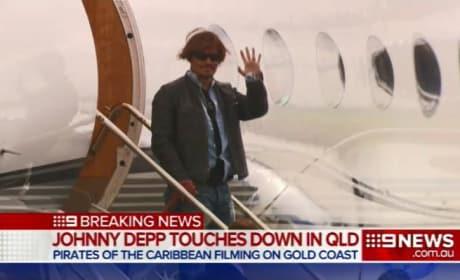 Johnny Depp in Australia