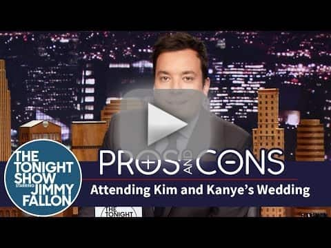 Jimmy Fallon: Kimye Wedding Pros and Cons