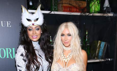 Lala Anthony and Kim Kardashian Halloween Costumes