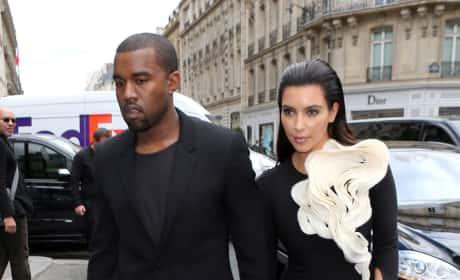 Kim and Kanye in Black