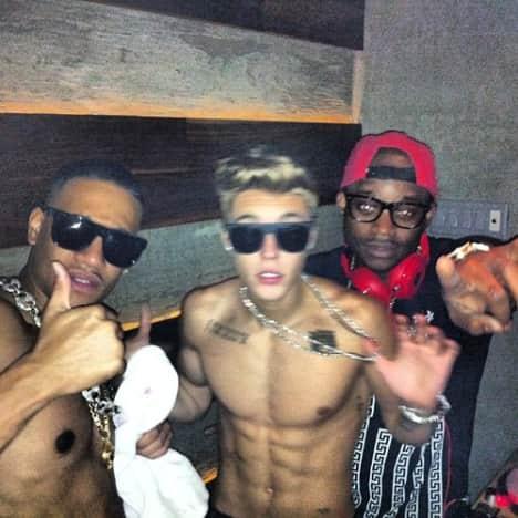 Justin Bieber Partying
