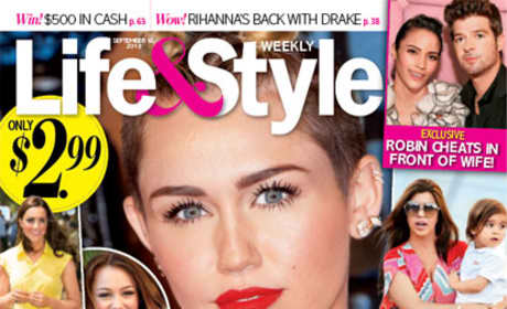 Miley Cyrus Tabloid Shot