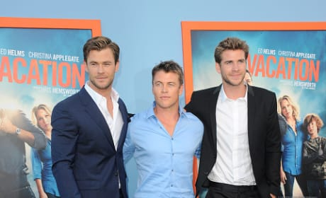 Liam, Luke and Chris Hemsworth