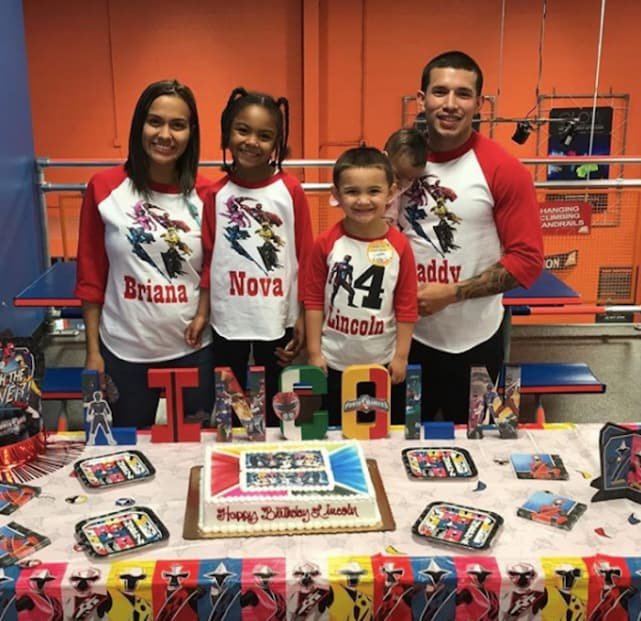 Javi marroquin and briana dejesus at birthday party