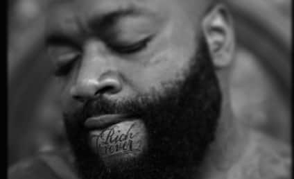 """Rick Ross Gets """"Rich Forever"""" Tattoo on His Chin"""