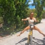 Kourtney Kardashian on a Bike