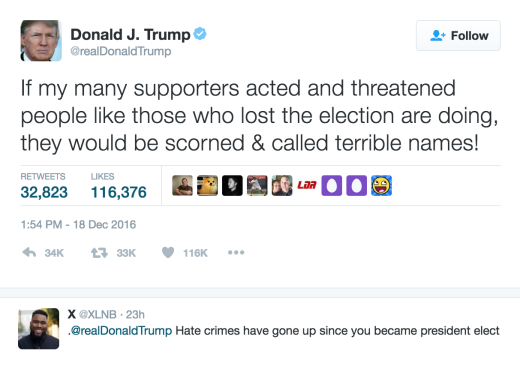 Trump Support Tweet