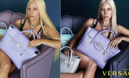 Lady Gaga Without Photoshop: Versace Ads Look Like a Different Person!