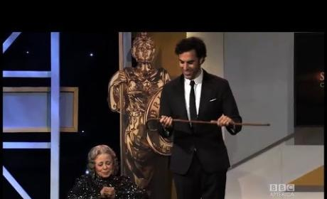 Sacha Baron Cohen and Grace Cullington at Britannia Awards