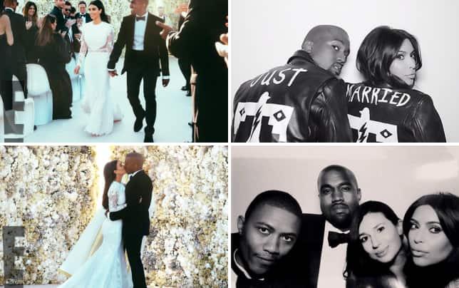 Kim kardashian and kanye west wedding pic