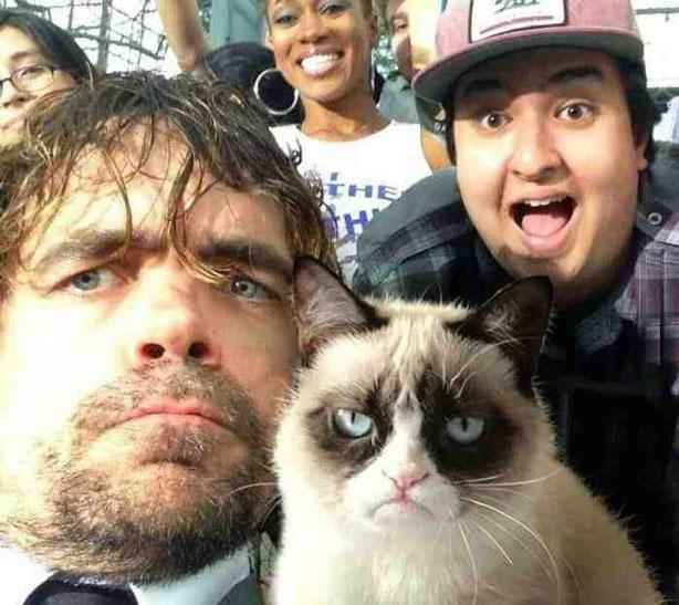 Peter Dinklage and Grumpy Cat
