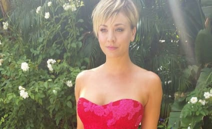Kaley Cuoco at the Emmys: Boobs, Bow Ties and Booze!