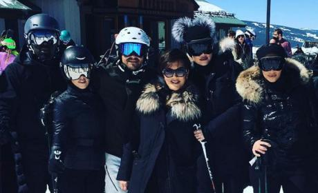 The Kardashians take a Group Ski Photo