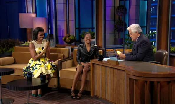 Gabby Douglas, Michelle Obama on the Tonight Show