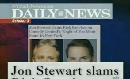 Jon Stewart Goes Easy on Rick Sanchez, Mocks the Media
