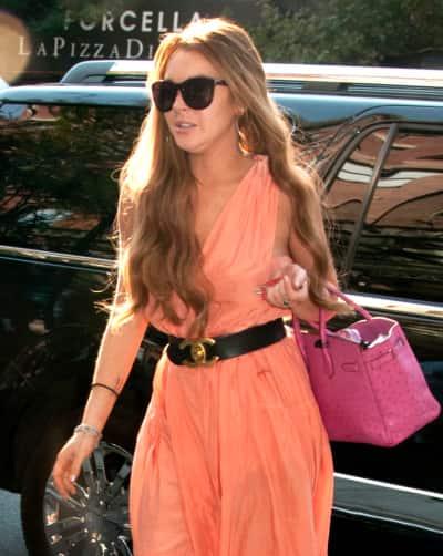 Lindsay Lohan's Long Red Hair