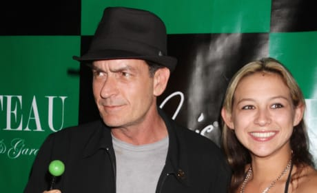 Natalie Kenly with Charlie Sheen