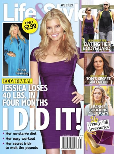 Jessica Simpson Weight Loss Cover