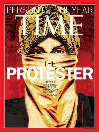 Protester: Time Person of the Year Cover