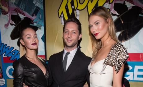 Candice Swanepoel, Derek Blasberg & Karlie Kloss: Marvel and Garage Magazine New York Fashion Week Event