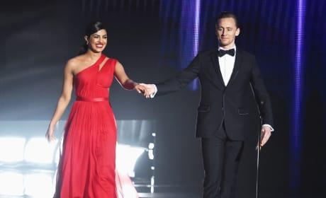 Priyanka Chopra and Tom Hiddleston Hold Hands Stage Emmys 2016