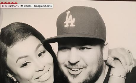 Blac Chyna Hugs Rob Kardashian in a Photobooth