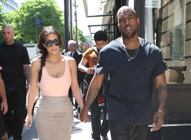 Kim and Kanye: Shopping in Paris