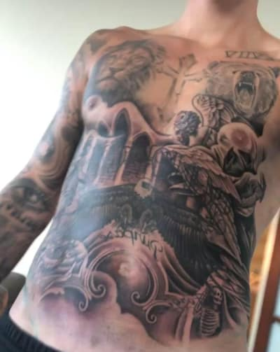 Crazy Chest Tattoo