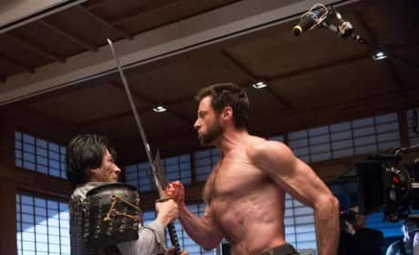 The Wolverine Hiro Sanada and Hugh Jackman