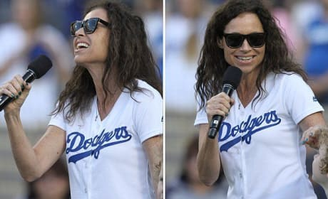 Minnie Driver Messes Up the National Anthem