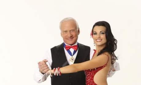 Buzz Aldrin and Ashly Costa