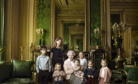 The Queen Poses With Grandchildren and Great-Grandchildren