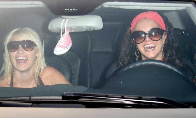 Britney Spears and Shannon Funk