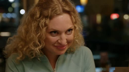 She gives Natalie Murdovtseva an intense look