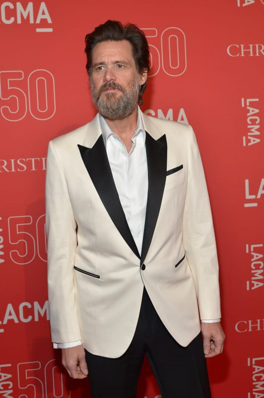 Jim carrey on a red carpet
