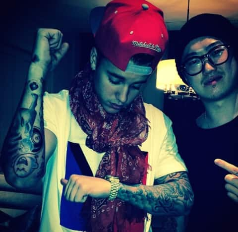 Justin Bieber Sleeve Tattoo