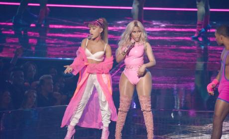 Ariana Grande and Nicki Minaj Perform at the MTV VMAs