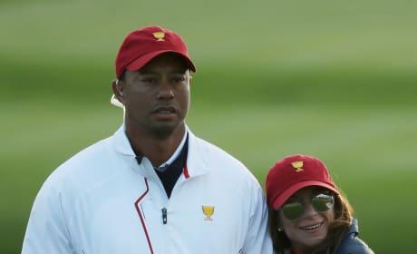Tiger Woods, Erica Herman Looking Cozy