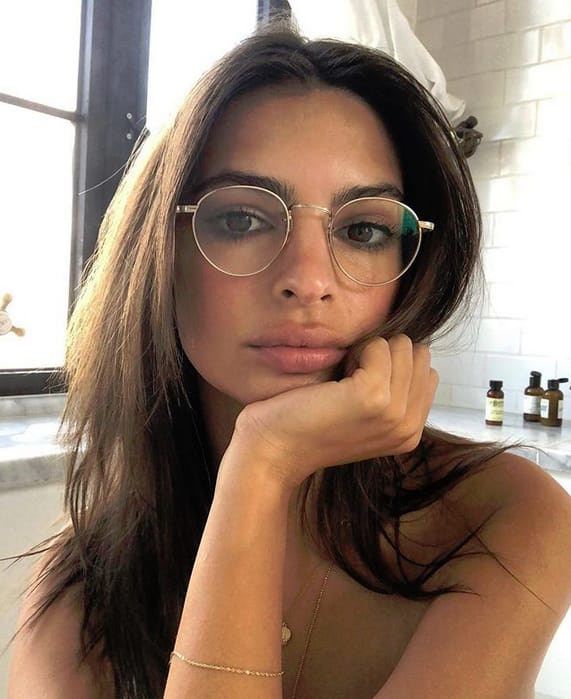 Emily Ratajkowski in Glasses