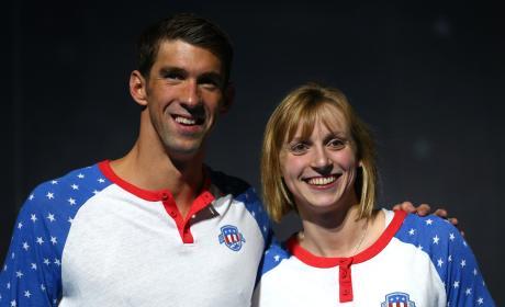 Michael Phelps Katie Ledecky Swim Trials Pic