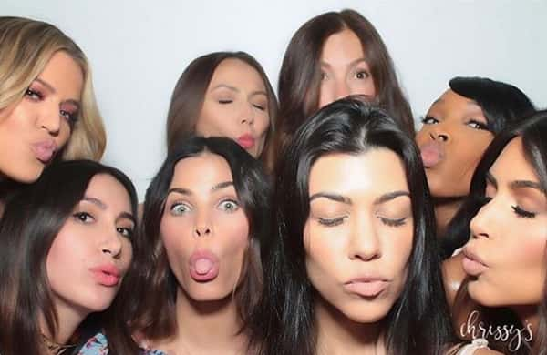 Group photo with duck lips