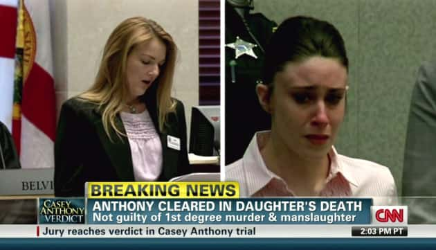 Casey Anthony Crying