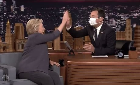 Jimmy Fallon and Hillary Clinton
